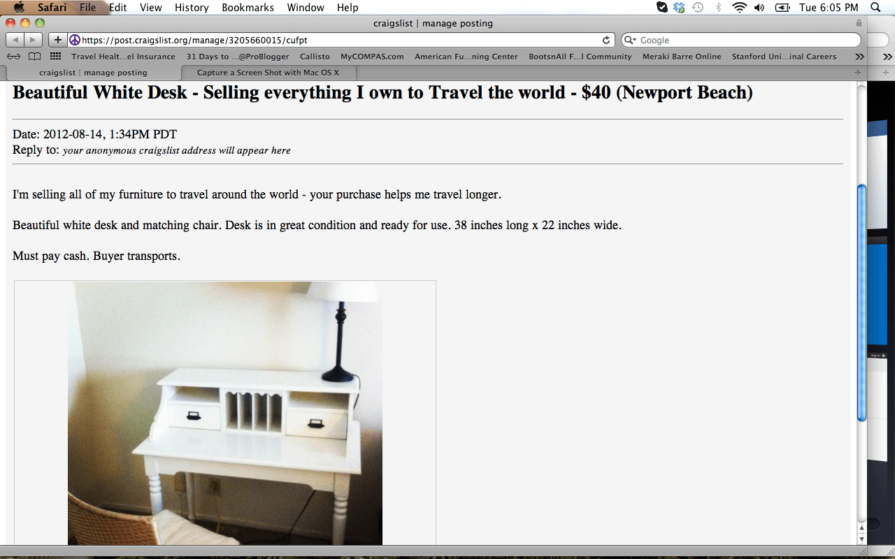 How To Sell A Household Of Furniture On Craig S List In One Week