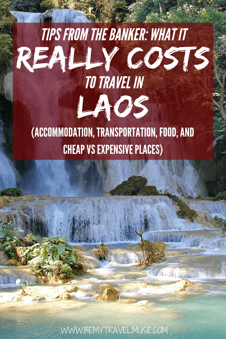 Wondering how much it costs to travel in Laos? Here's a complete guide to accommodation, transportation, food and more to help you plan your trip to Laos. #Laos #LaosTravelTips