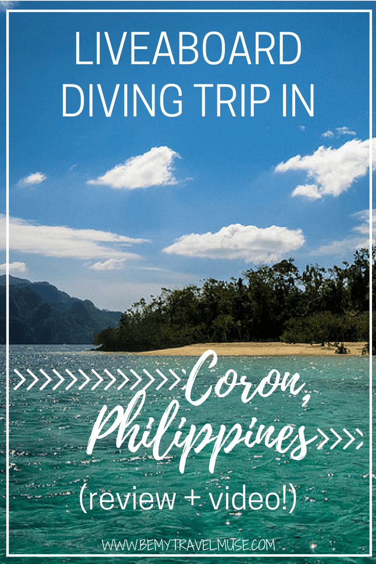 My experience, review, and an underwater video of a liveaboard diving trip in Coron, Philippines! Be My Travel Muse | Philippines travel tips | Southeast Asia diving
