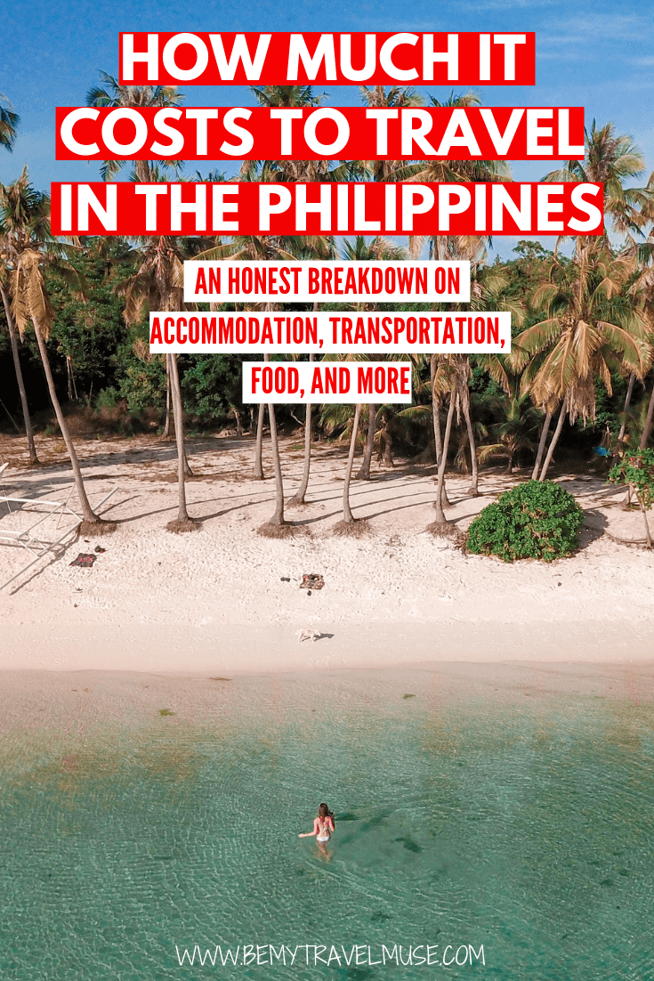 The Philippines is one of the more expensive Southeast Asian countries to travel in, but to travel The Philippines on a budget is still doable. Click to read an honest breakdown on the accommodation, transportation, food and other costs to help you plan your trip to the Philippines #Philippines #PhilippinesTravelTips
