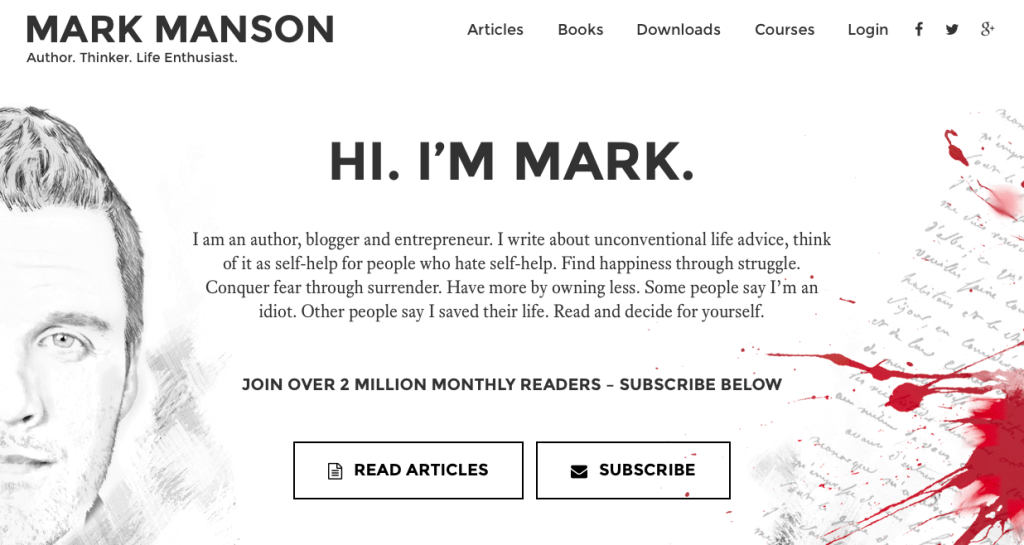 mark manson website