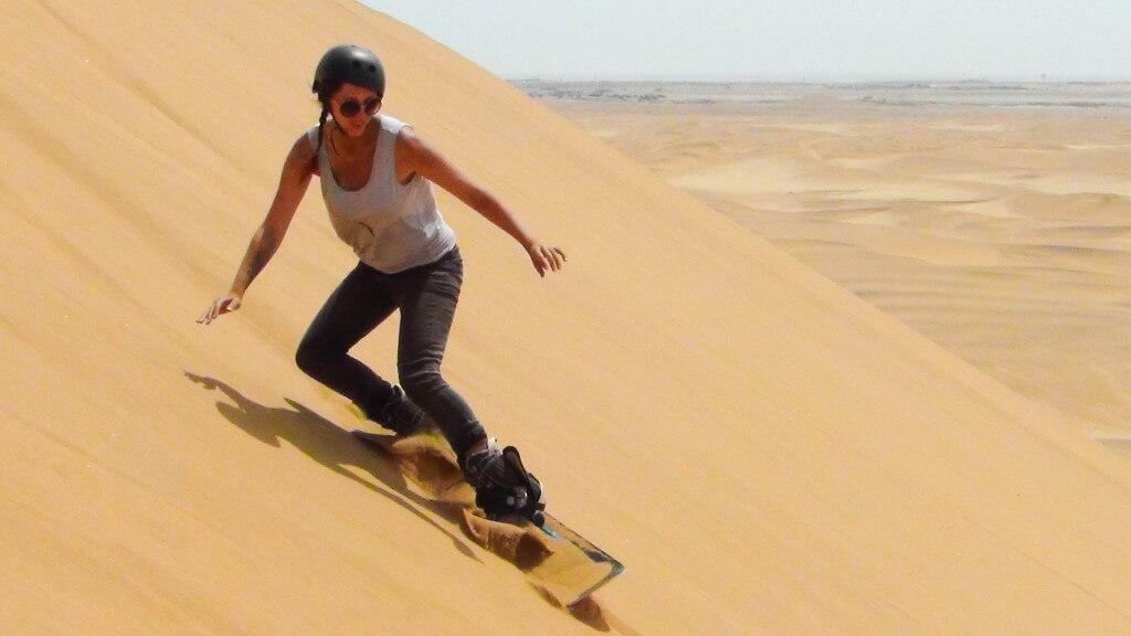 sandboarding in swakopmund Namibia