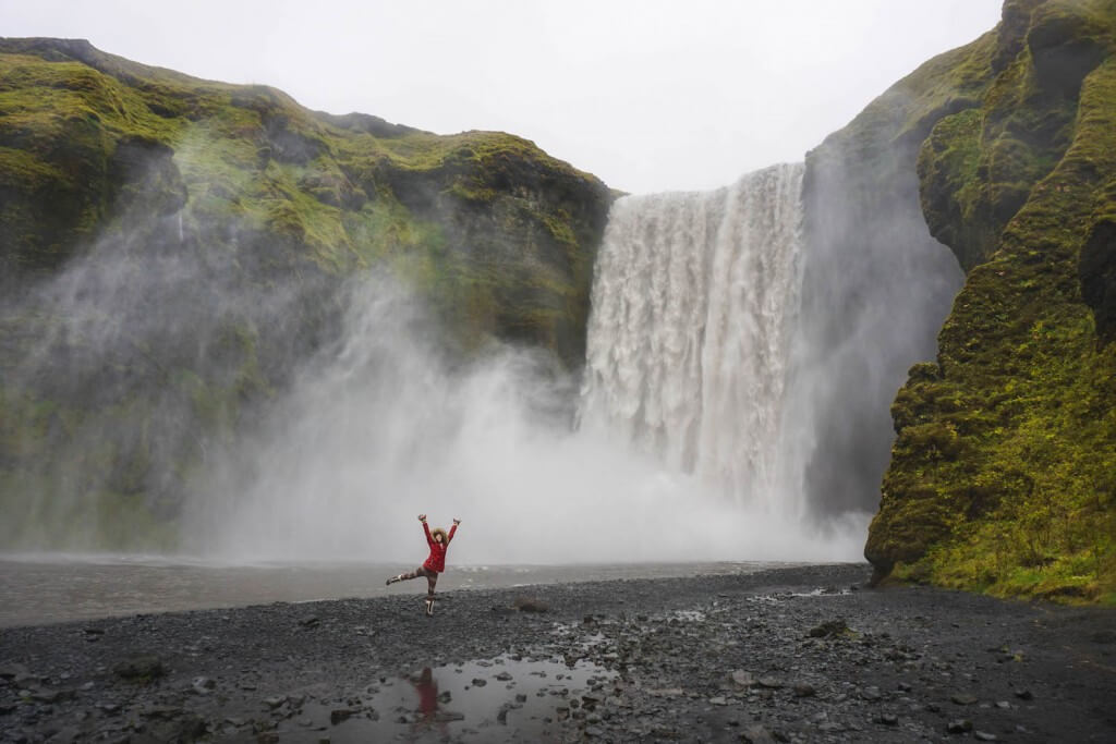 Skógafoss waterfall iceland ring road itinerary