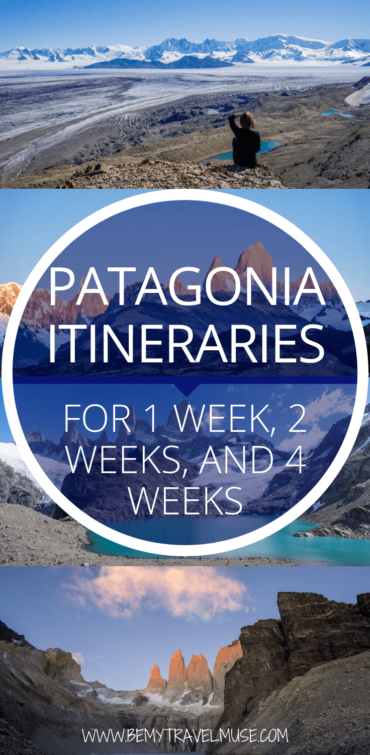Here's the perfect Patagonia itinerary for whether you have one week, two weeks, one month, or longer in Patagonia. Tons of pics and helpful planning tips! Read more at https://www.bemytravelmuse.com/patagonia-itinerary/