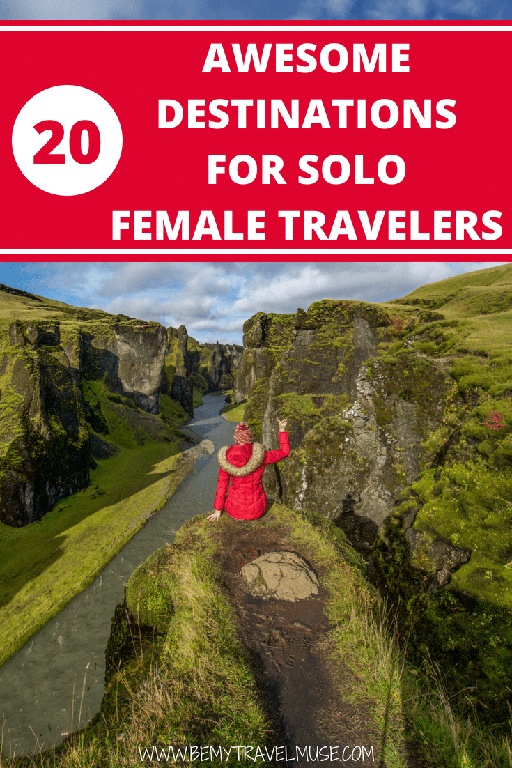 Hello solo female travelers! I have been traveling around the world by myself for over six years now, and here are some of the best destinations for women to travel alone in. Some may surprise you! :) #SoloFemaleTravel