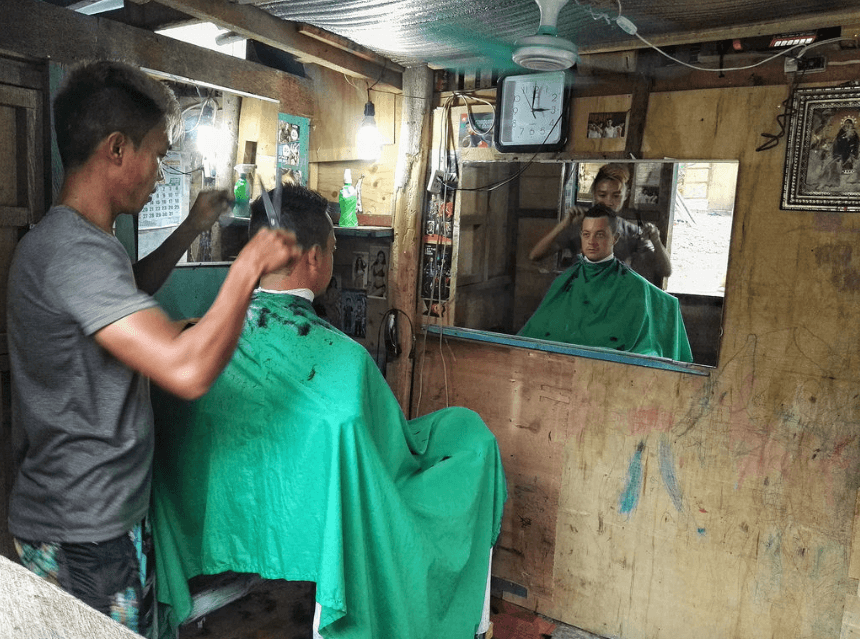 local haircut on bantayan island