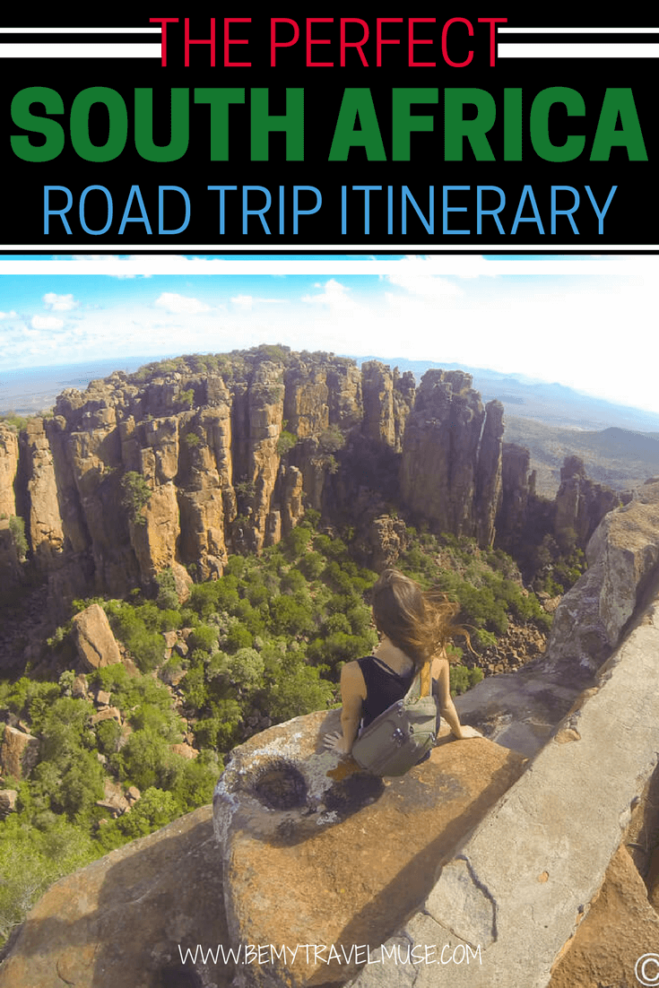 A perfect itinerary for your next South Africa road trip! Starting from Johannesburg, passing through Golden Gate Highlands National Park, Drakensberg Mountains, Coffee Bay, plus the tallest Bungee Jump in the world, accommodation tips and a route map   Be My Travel Muse