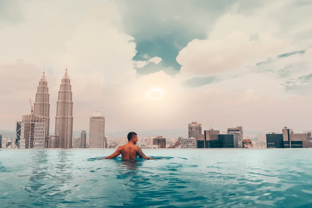 KL Infinity Pool Petronas Towers