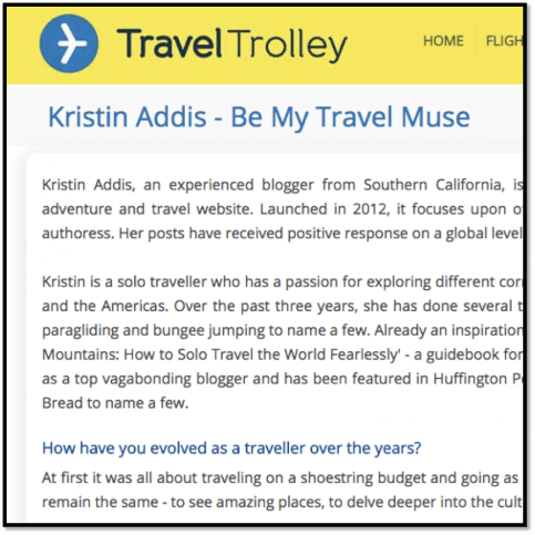 bemytravelmuse Travel trolley