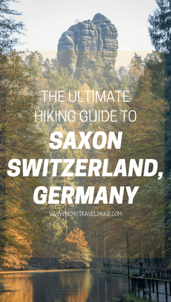 The ultimate hiking guide to Saxon Switzerland, Germany, which includes all of the best view points and other activities such as rock climbing | Saxon Switzerland National Park| Saxon Switzerland Germany | Rock Formations | Bridges | Europe Hiking Tips #SaxonSwitzerland #GermanyHikingTips