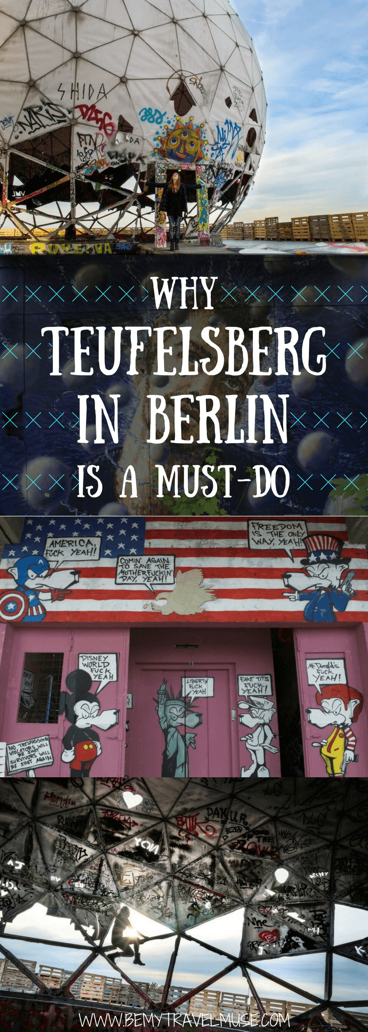 Devil's Mountain, or Teufelsberg, is a must-do when you visit Berlin. It's a bit of a trek, but the view and the insane amount of graffiti will blow you away | Be My Travel Muse #Teufelsberg #BerlinTravelGuide