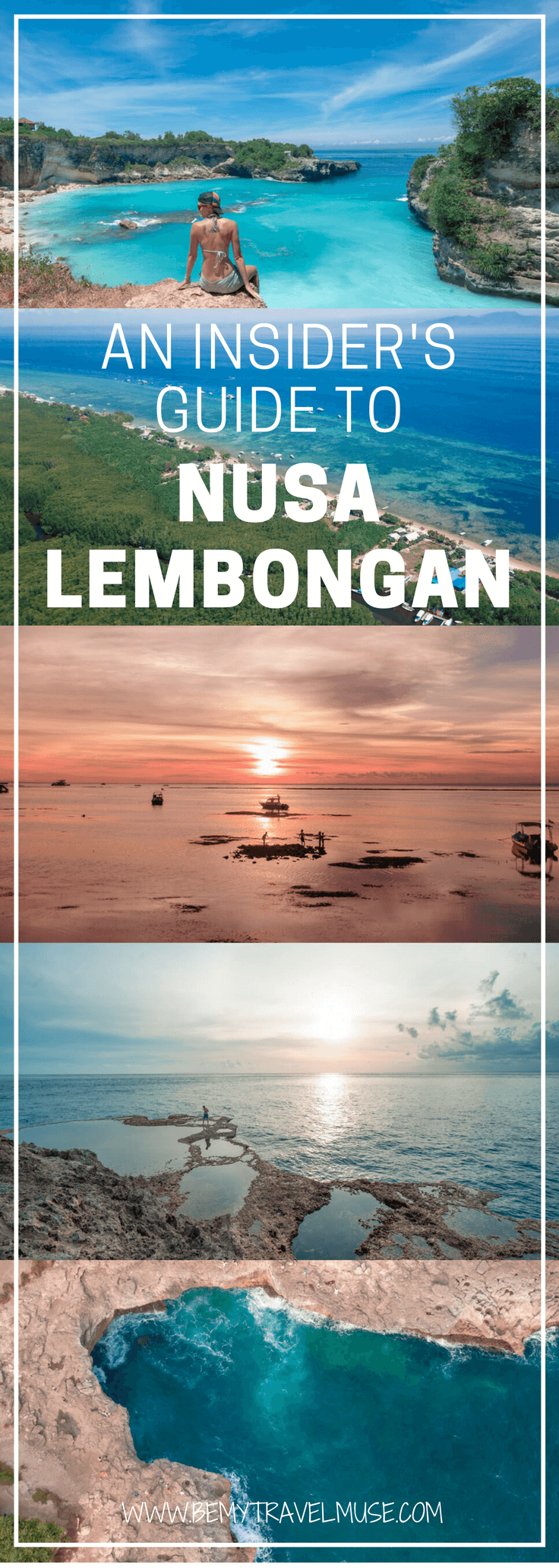 Here is your ultimate guide to Nusa Lembongan, Indonesia. Where to go, things to do, how to get around, where to stay, and some other insider tips included. They say this island is how Bali used to be, so go now before it's too late | Be My Travel Muse | Solo female travel
