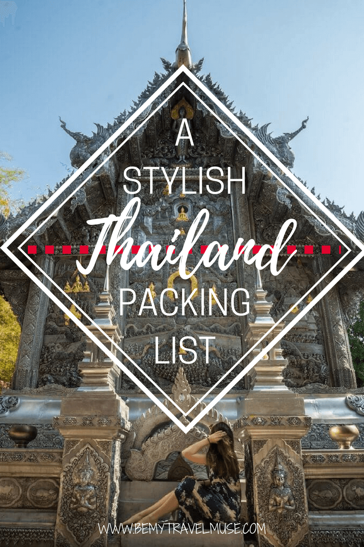 The ultimate packing list for your next Thailand trip! Want to do carry-on only, but do not want to skimp on fashion and fun? What toiletries should you bring from home to Thailand? All that and many other things to note about what to pack are in the article! Be My Travel Muse | Thailand packing list | Thailand travel tips | Solo travel in Thailand Southeast Asia | Women packing list for Southeast Asia
