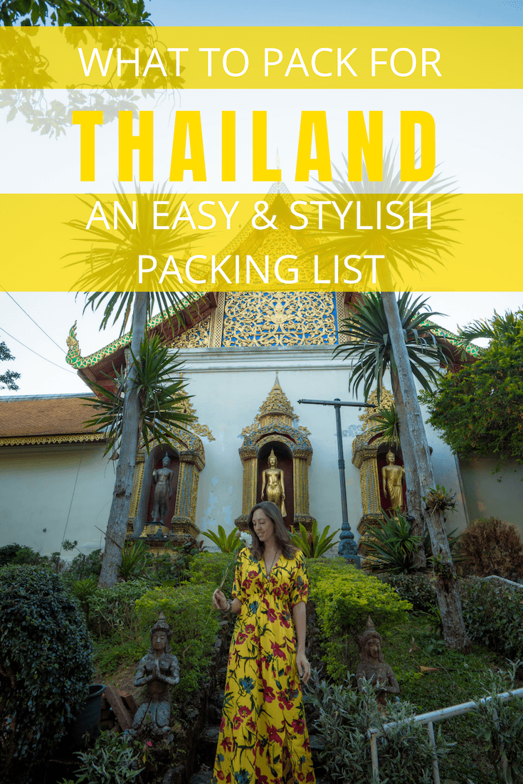 Here's a Stylish, Easy Thailand Packing List for your next trip to the Land of Smiles. In this post, you will find a full packing list, my best tips on packing light, and a packing video to show you everything that's in my backpack! #ThailandPackingList #ThailandTravelTips