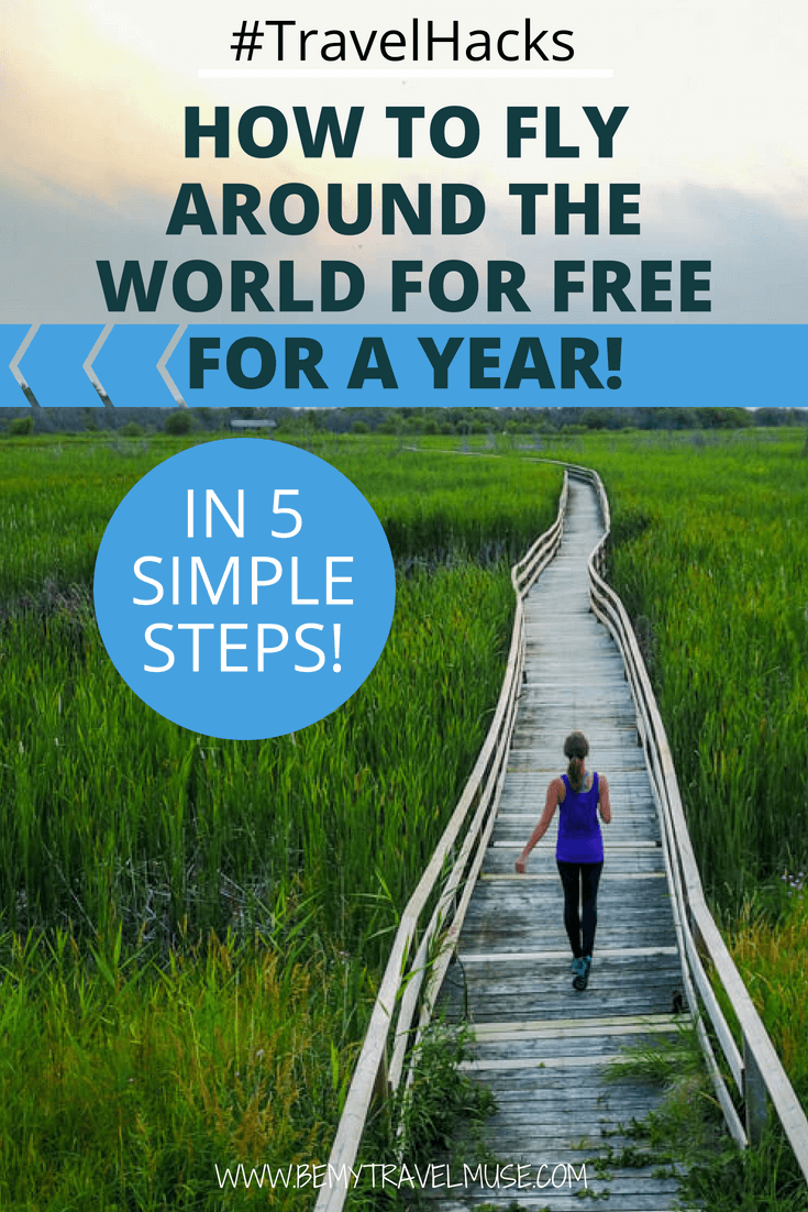 This is possibly my best travel hack! I flew around the world for FREE for a year, using just 5 simple steps. Here's how you can do the same to get free flights and travel for free. #TravelHacks #FlightHacks