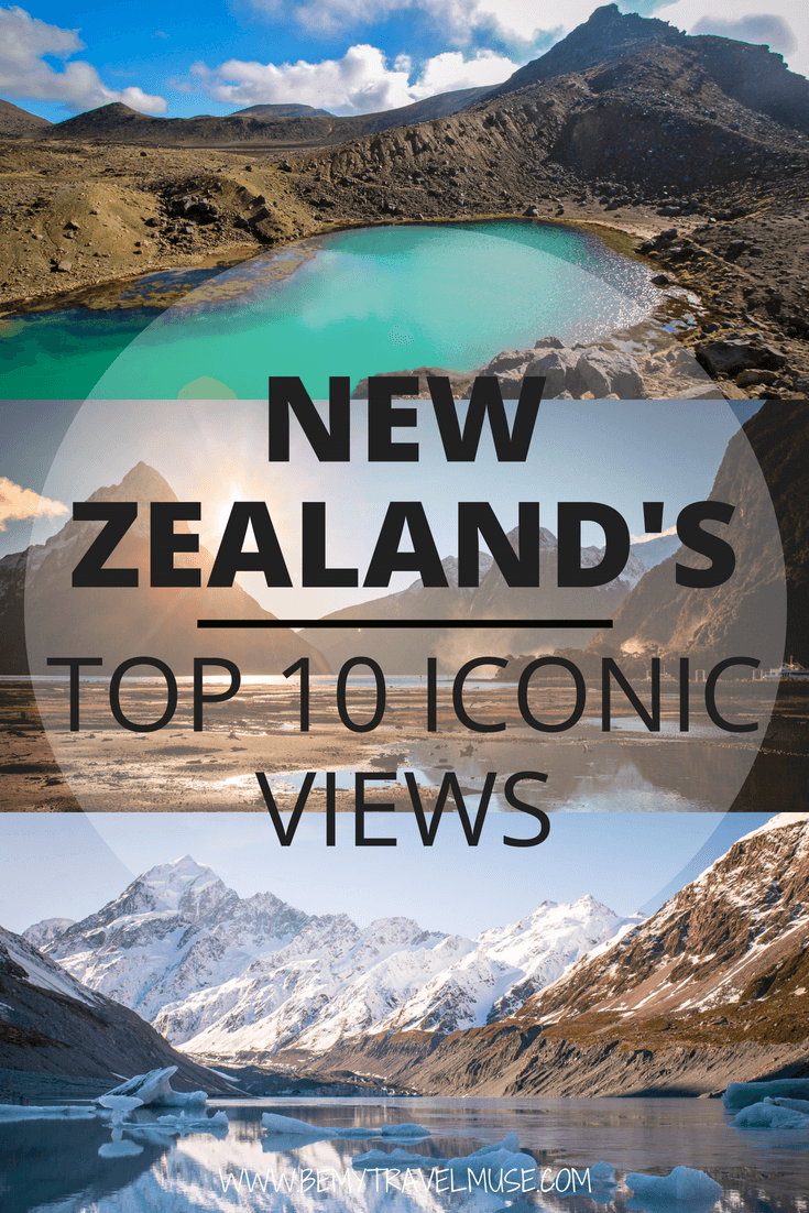 New Zealand's gorgeous landscape is perfect for photography. Here are top 10 iconic views in New Zealand that you simply cannot miss when traveling in New Zealand, including the legendary Mt Cook, Cape Reinga, Tongariro National Park, and so much more #NewZealand #NewZealandTravelTips #NewZealandBestPlacetogo