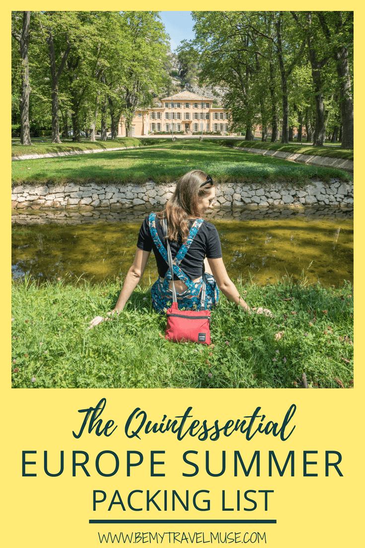 Packing for your summer holiday in Europe? I got just the quintessential packing list for women for European summer for you. Everything you need to pack light and stylishly! #EuropeSummer #PackingList