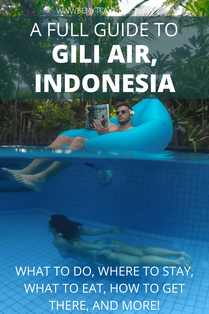 Here is an awesome guide to Gili Air, Indonesia that will help you plan your island trip. Tips on where to stay, what to do, what to eat, and how to get there from Lombok and Bali included. Time for an island adventure!