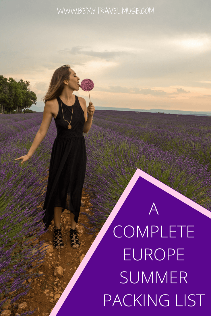 Here is a complete Europe summer packing list for women that will help you pack light and stylishly. This will make planning for your Europe trip that much easier! #EuropeTravelTips #EuropePackingList