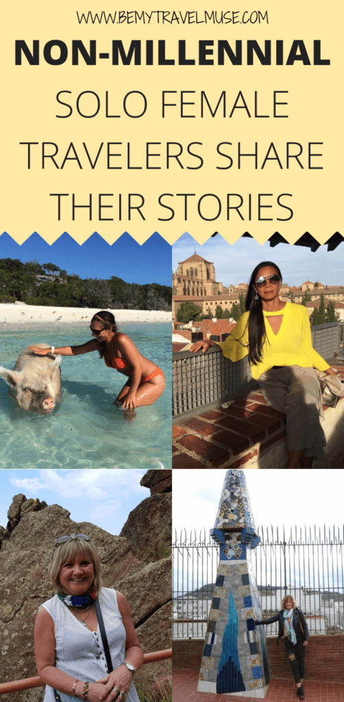Who says solo travel is only for young people? 9 non-millennial women share what motivated them to travel solo in their 40s, 50s, and 60s, how they fund their travels and what their families and friends' reaction to their brave decision #SoloFemaleTravel