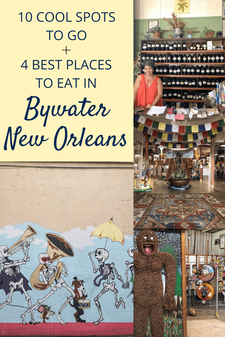 Here are 10 cool spots to visit and 4 amazing places to eat at Bywater, New Orleans! If you love a unique, fun, and quirky experience, Bywater is perfect for you.