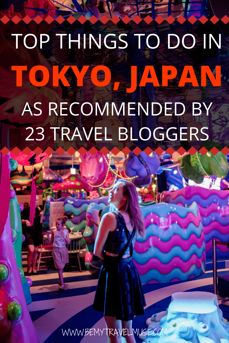 Top things to do in Tokyo, Japan, as recommended by travel bloggers. This list covers everything from the best kaiseki and fine dining restaurants, themed cafes, street food, museums, parks, to the weird and amazing things like mario kart, robot restaurant, and so much more. If you are planning a trip to Tokyo, be sure to check this list out! #TokyoTravelGuide #TokyoBucketLIst