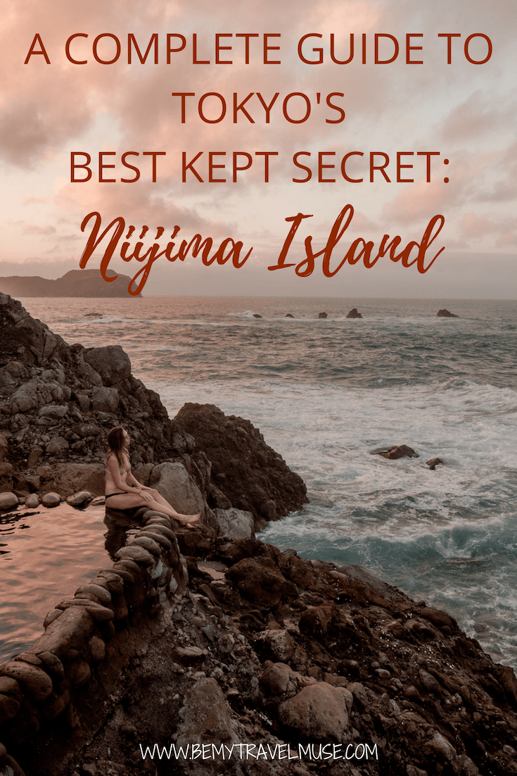 Looking for an island adventure off the beaten path in Japan? What if I told you just an hour away from Tokyo lies a secret island that's not only a surfer's paradise, but a dreamy place with a stunning outdoor onsen that's completely free? Click to read the full guide to Niijima Island in Japan! #Japan #JapanTravelTips
