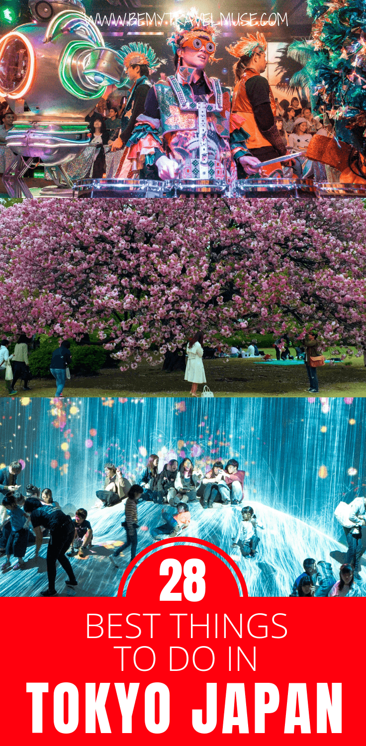 Planning a trip to Tokyo, Japan? Here are 20+ amazing things to do, including the best food experiences (Kaiseki, themed cafes, Japanese street food and more), best views, best cultural experiences, places to go to see the nature, and of course, the weird and amazing things to do and see in Tokyo, as recommended by travel bloggers. Click to find out more!