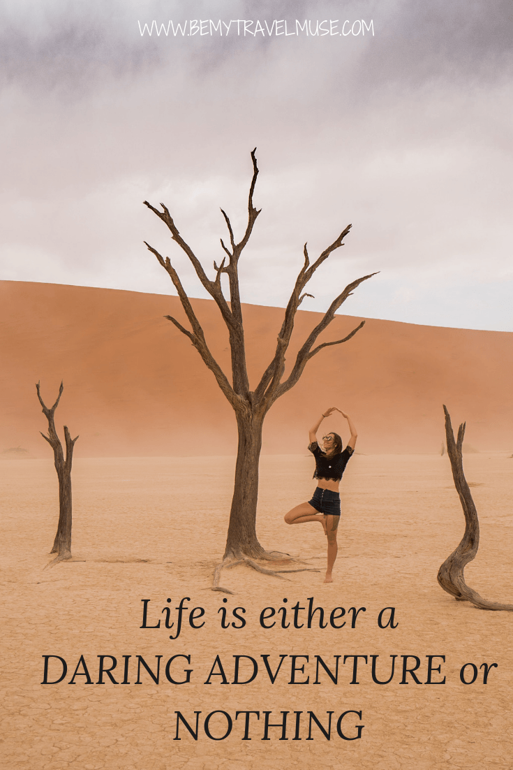 Life is either a daring adventure or nothing #TravelQuotes #RoadTripQuotes