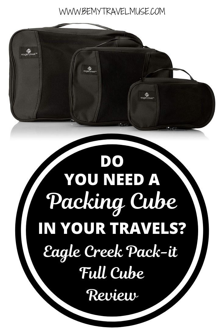 Click to find out if you need a packing cube in your travels, and if packing cubes help organizing your luggage. I have been using Eagle Creek's packing cube for over 6 years, and here' s my honest review of it! #EagleCreek #PackingCube