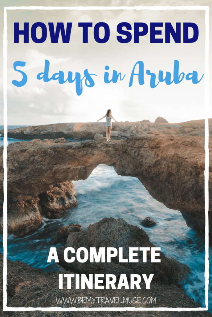 How to spend 5 days in Aruba, a complete itinerary. Other than the Flamingo Island, there are many things to do and gorgeous places to check out in Aruba. This itinerary will ensure you make the best out of your time in Aruba, with the best beaches, best sunset spots, best off the beaten path adventures and so much more. Click to read now #Aruba #ArubaItinerary #ArubaTravelTips