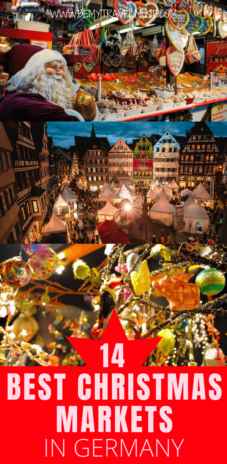 Where should you spend your Christmas holiday in Europe? Germany is dreamy all-year, but especially amazing during Christmas. Here are 14 best German Christmas markets, with some popular with tourists, some kept a secret by the locals, and some with unique themes that will convince you to visit this winter. #ChristmasMarket #GermanyTravelTips