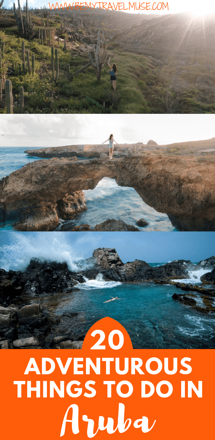 Aruba is more than just the flamingoes! Here are 20 adventurous things to do in Aruba that will help you make the most out of your vacation in the gorgeous Caribbean island. #Aruba