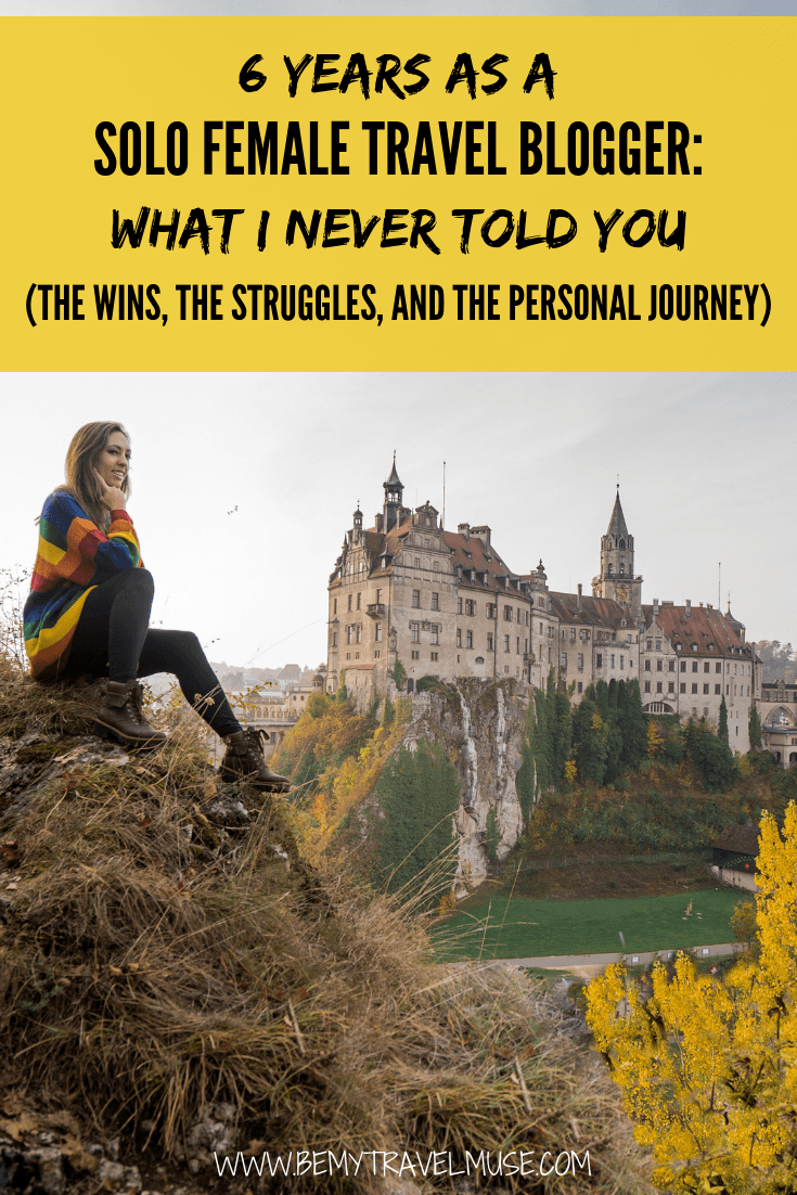 This is my 6th year on the road as a solo female traveler, and a solo female travel blogger. I write down my journey in the last year - the wins, the struggles and the reality of running a travel blog. Click to read now! #SoloFemaleTravel #TravelBloggers