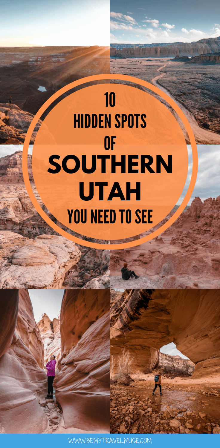 Planning a road trip in Southern Utah? Here are 10 amazing spots that are off the beaten path you need to see, including Needles Overlook, Valley of the Gods, Natural Bridges National Monument and more. #SouthernUtah #RoadTrip