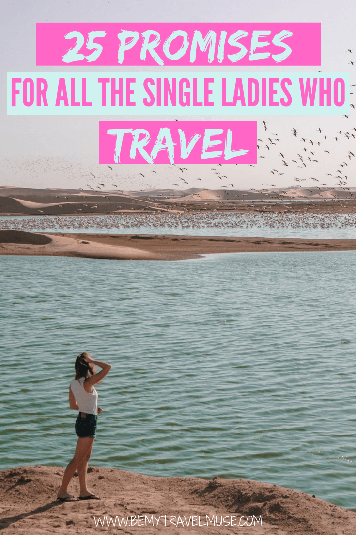 Dear solo female travelers, this is for you.