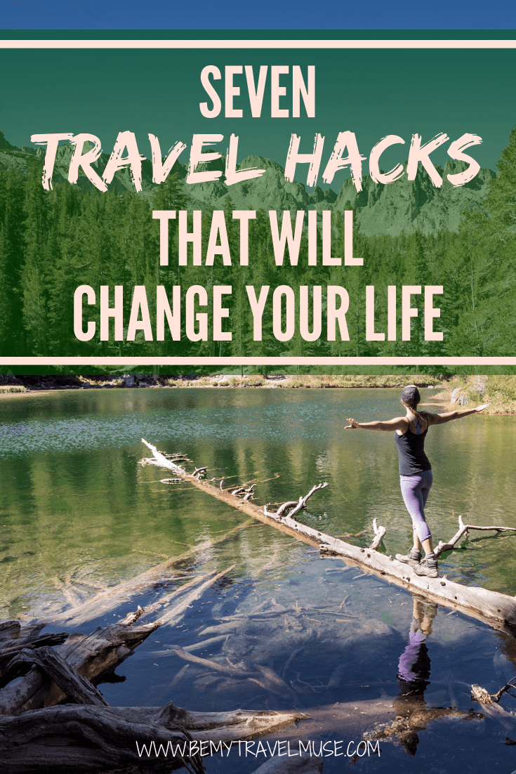 Learn all of my best travel hacks to travel longer, on a budget and even for free. These tips will absolutely change your travel game, especially if you are planning on long term solo traveling! #TravelHacks