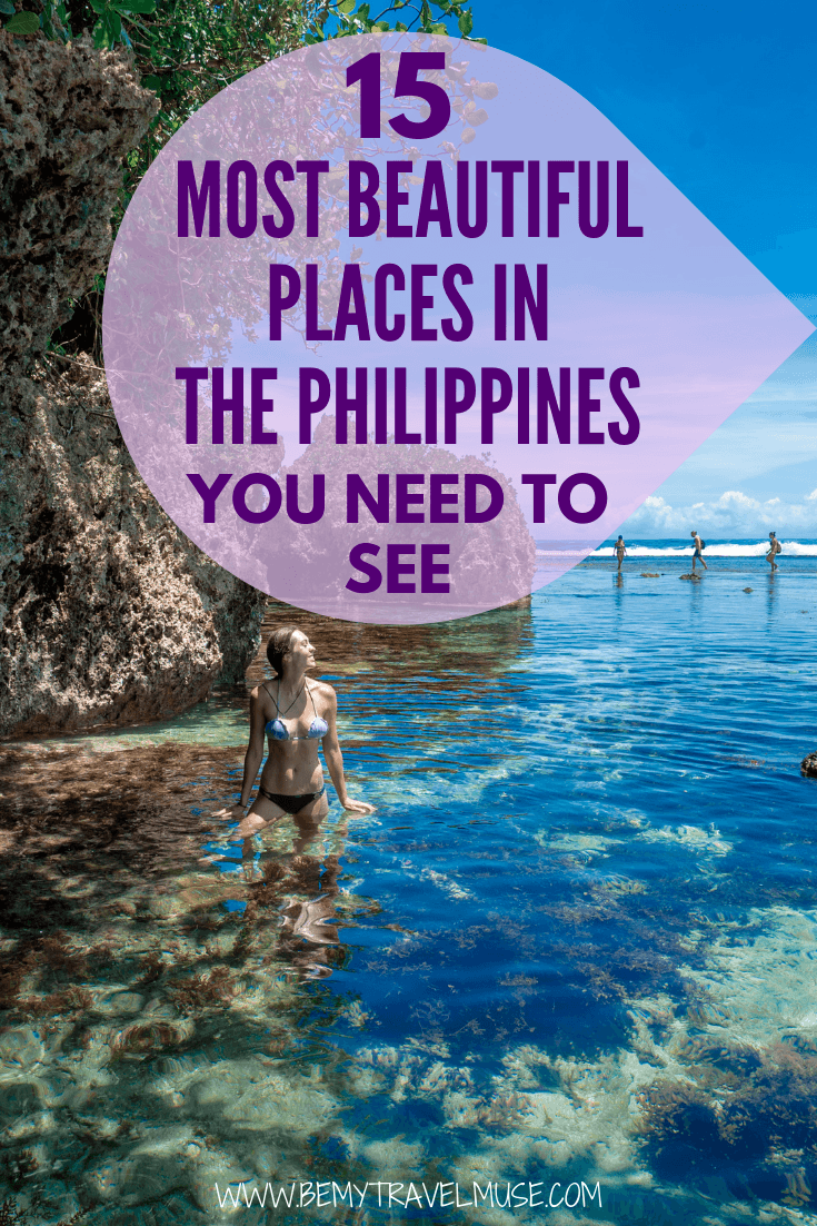 planning a trip to the Philippines? Picking where to go can be overwhelming, considering how many islands there are! To help you plan your Philippines itinerary, here are 15 most beautiful places in the philippines, with some off the beaten path spots that you may not have heard of. #Philippines