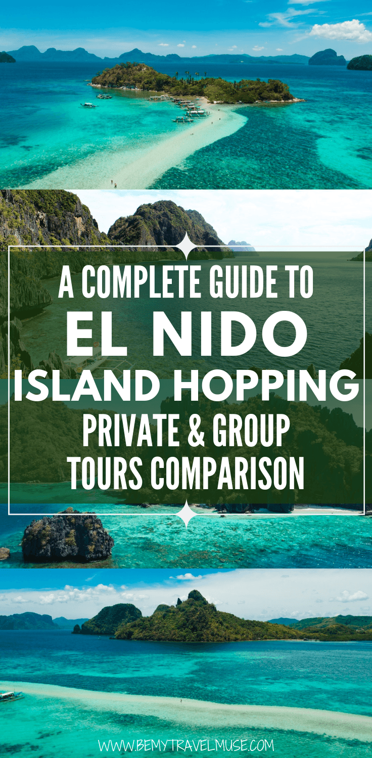 Deciding between private and group tours for your trip to the beautiful El Nido, Palawan, The Philippines? Here's a complete guide to the island hopping tours and a comprehensive comparison to help you plan your trip! Click to read now.