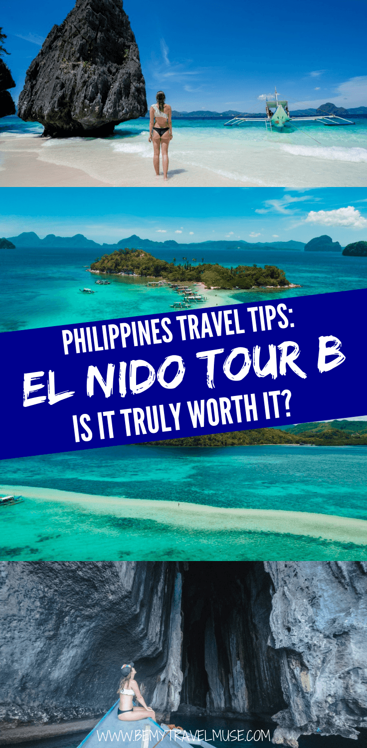 Should you join the El Nido Tour B to see the islands of El Nido, Palawan in the Philippines? Click to read a complete guide and an honest review now to help you plan the best holiday! #ElNido