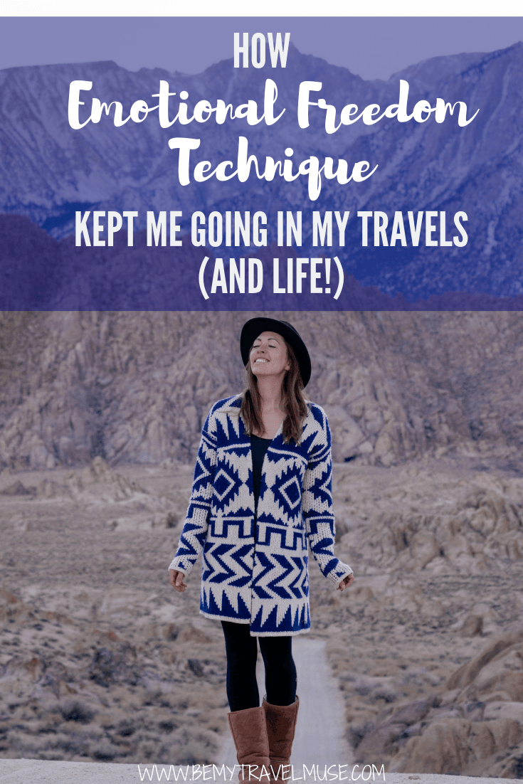 Click to learn how practicing emotional freedom technique, a self-administrated therapy, kept me calm and at peace in my travels (and in my life!)