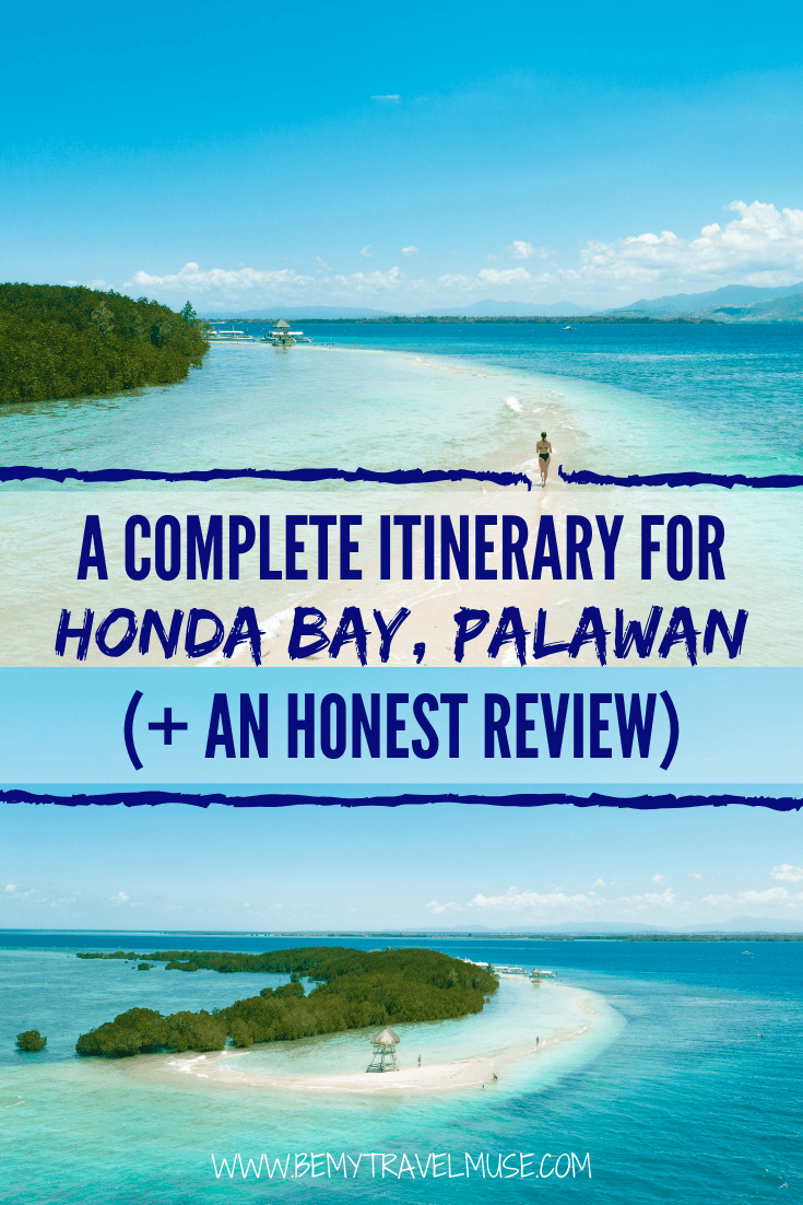 I spent an entire day on Honday Bay on Palawan, Philippines, and if you are planning on visiting, click to read a full DIY guide + itinerary. If you are considering visiting, read my honest review about the area! #HondaBay #Palawan