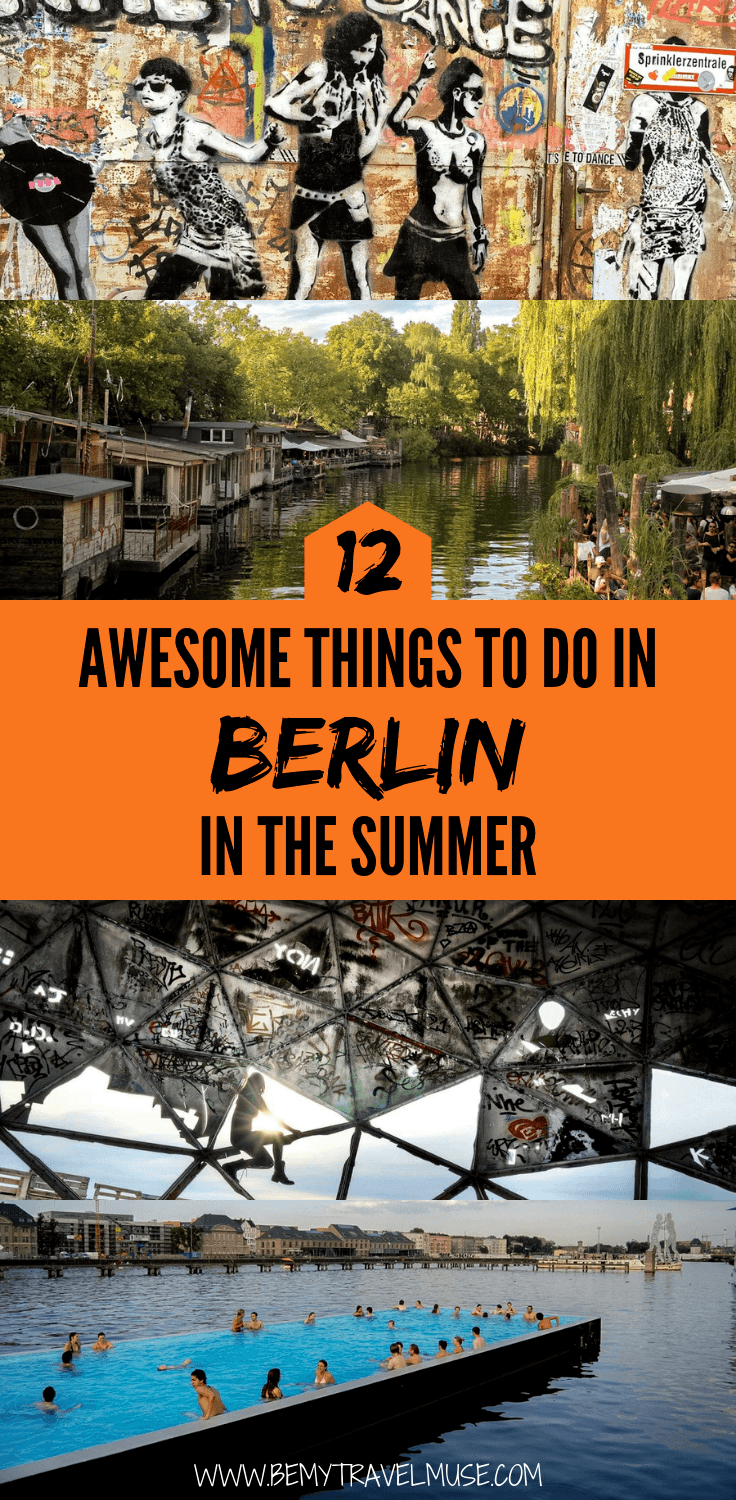 looking for an itinerary with a mix of relaxing, interesting, local and unusual things to do in Berlin in the summer? This list is perfect for you! Here are 12 awesome things to do in Berlin the summer , click to check them out now! #Berlin