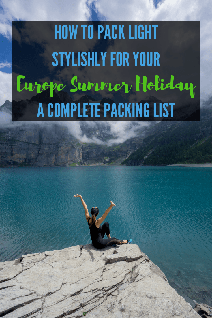 Packing for a summer holiday? Here's a perfect minimalist packing list for women who want to pack light yet stylishly. Click to read my complete guide to the amount of clothing, toiletries, and backpack + day bag now. #Summerpackinglist #Womenpackinglist