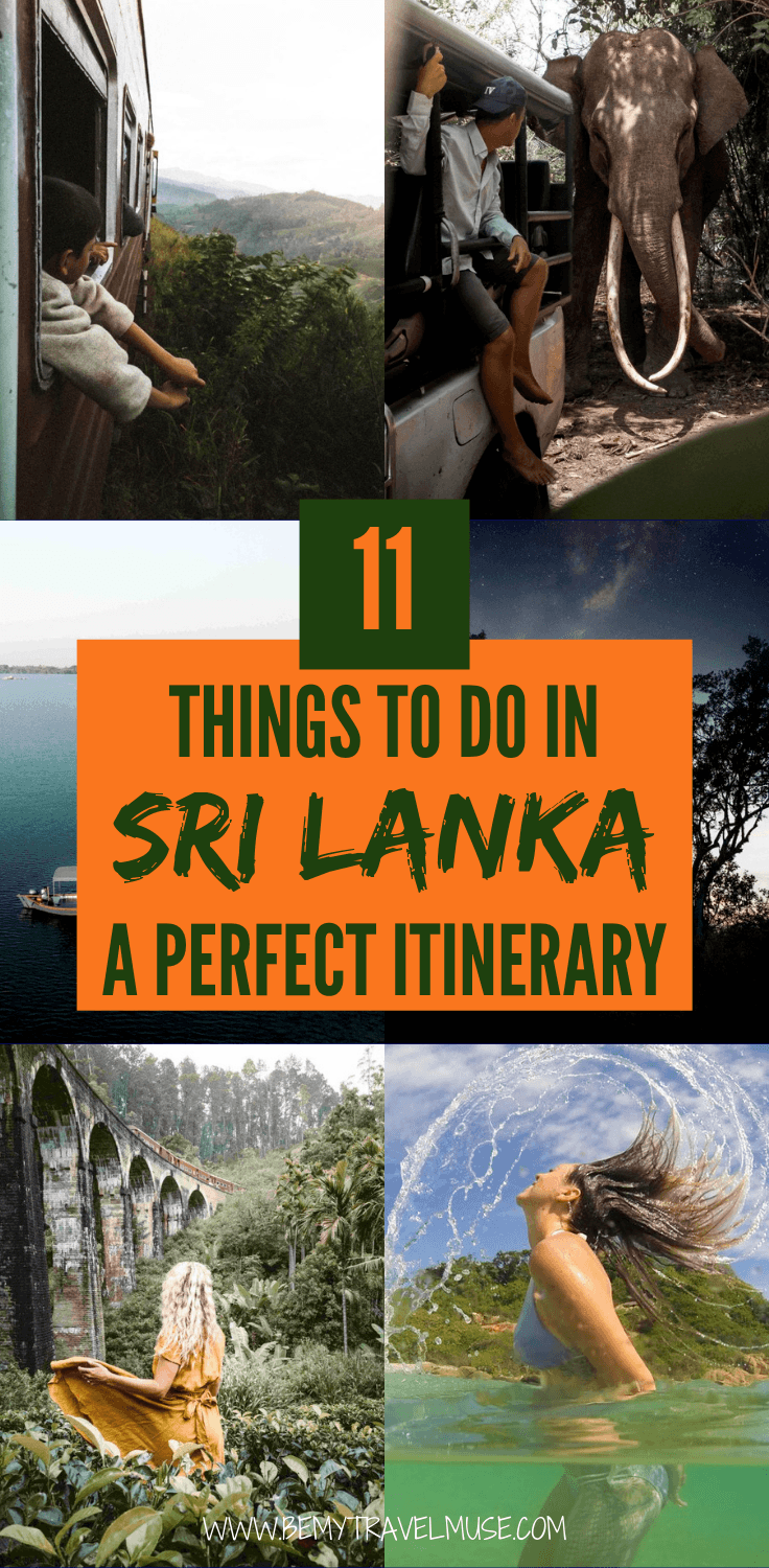 Traveling to Sri Lanka? Here are 11 things you must not miss! this perfect itinerary covers the most loved areas in the country, as well as some off the beaten path spots that see little tourists. Get tips on transportation, accommodation, and the best things to do in each area. Click to read now! #SriLanka