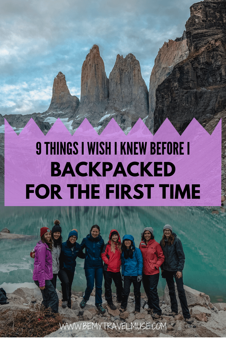 Here are 9 important things I wish I knew before I backpacked for the first time, so make sure you know them before YOU backpack for the first time! These tips will keep you safe, your load light, and your journey amazing! #backpackingtips
