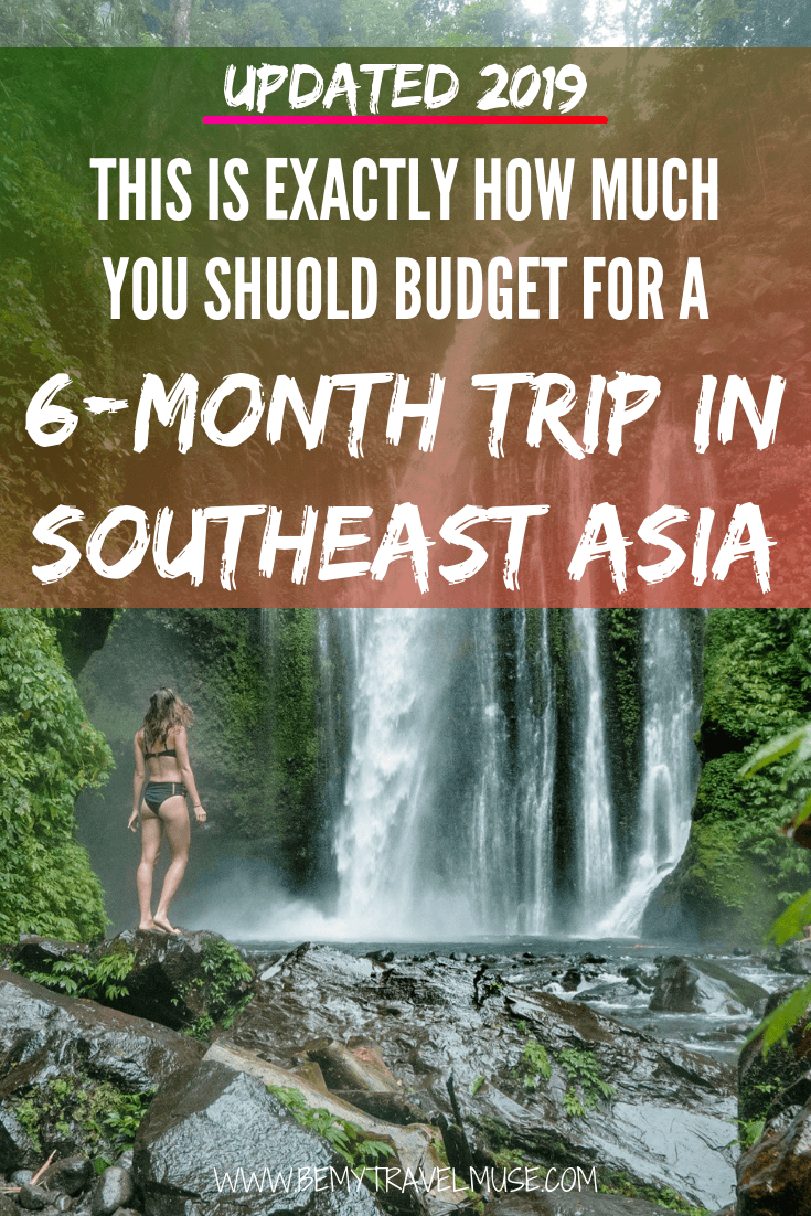 UPDATED 2019: click to find out how much exactly do you need to budget for a 6-month trip to Southeast Asia. A complete breakdown on accommodation, transportation, insurance, daily expenses including food, entertainment and activities included, plus insider tips on how you can save and make the most out of your trip! #SoutheastAsia