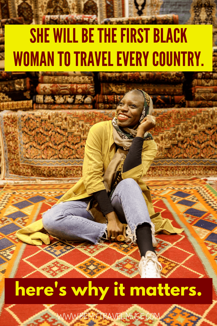 Jessica nabongo aims to be the first black woman to travel every country in the world. This is why her story matters. All solo female travelers need to read this!